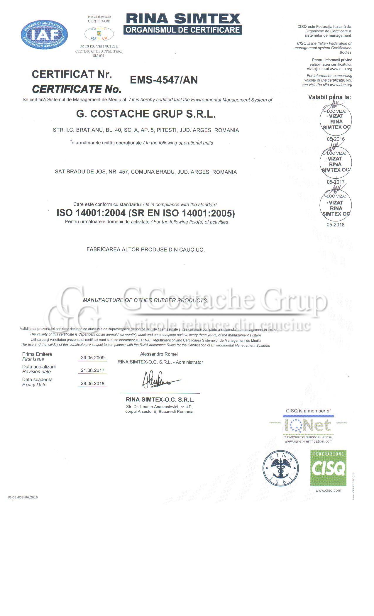 certificat mediu